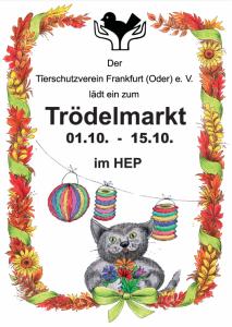 Plakat Trödelmarkt im HEP Oktober 2021